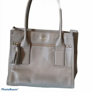 Leather Tote KATE SPADE, taupe 11x13x4